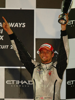 Podio: tercer lugar Jenson Button, Brawn GP