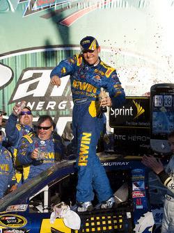 Victory lane: race winner Jamie McMurray, Roush Fenway Racing Ford celebrates