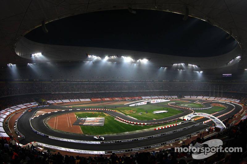 Quarter final, race 4: Michael Schumacher and Mikko Hirvonen