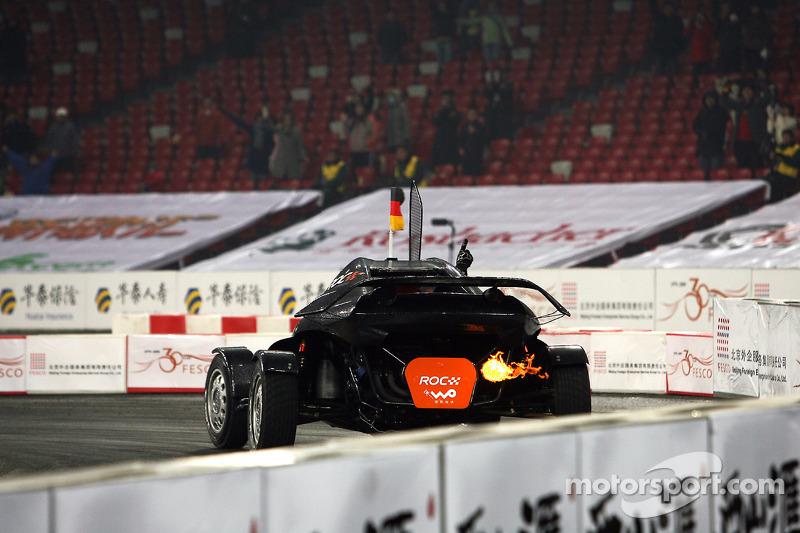 Nations Cup winner Michael Schumacher celebrates