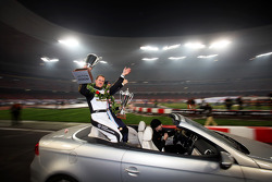 Nations Cup winners Michael Schumacher and Sebastian Vettel for Team Germany celebrate