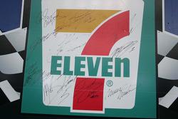 Former pole winner signatures at Texas Motor Speedway