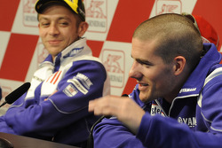 Press conference: Valentino Rossi, Fiat Yamaha Team, and Ben Spies, Yamaha Factory Racing