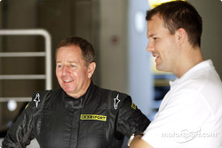 Marin Brundle with Leon Price, GP3 Series co-ordinator