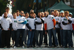 Drivers group pictures, Tom Coronel, Sunred Engineering, Seat Leon 2.0 TFSI , Tiago Monteiro, Seat Sport, Seat Leon 2.0 TDI, Robert Huff, Chevrolet, Chevrolet Cruze and Augusto Farfus, BMW Team Germany, BMW 320si