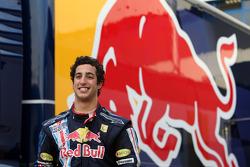 Daniel Ricciardo, test voor Red Bull Racing