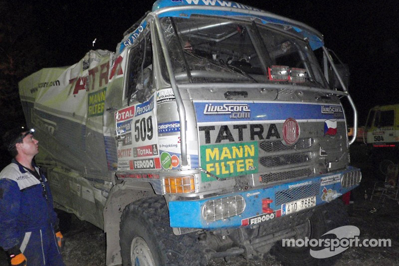 Daño en el #509 Tatra: Tomas Tomecek, Vojteck Moravek y Petr Vojkovsky