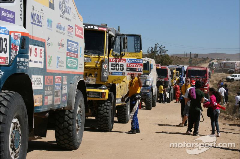 Alignement de camions