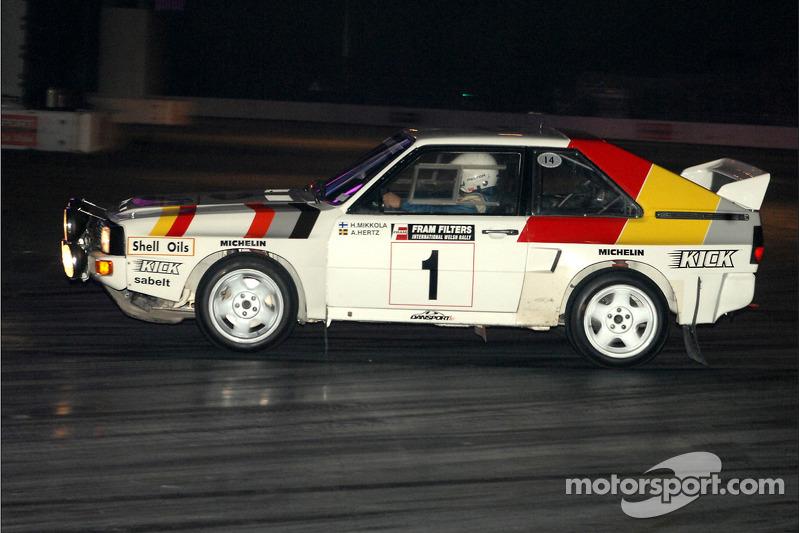 Stig Blomgvist dans une Audi Quatro Rallye Car