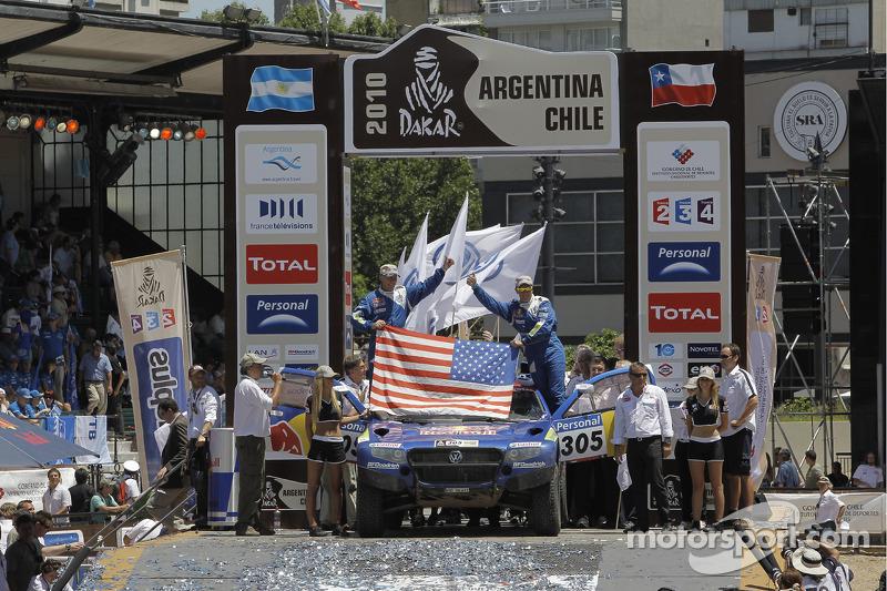 Auto's podium: derde plaats Mark Miller en Ralph Pitchford