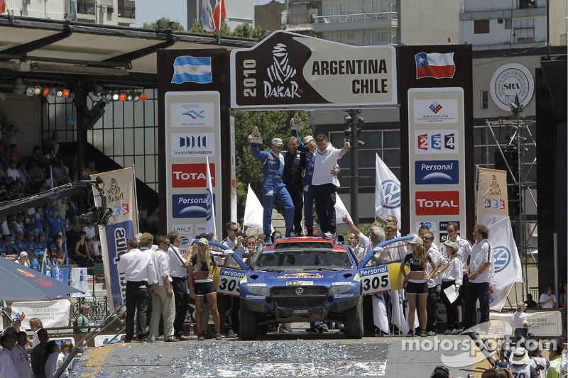 Podium catégorie AutosDakar 2010 : Mark Miller et Ralph Pitchford, troisièmes