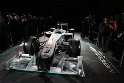 2009 Brawn GP car with the 2010 livery