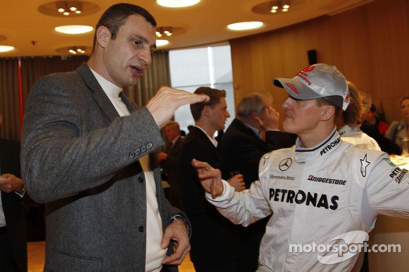 Michael Schumacher mit Vitali Klitschko