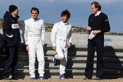 Peter Sauber, Pedro de la Rosa, Kamui Kobayashi
