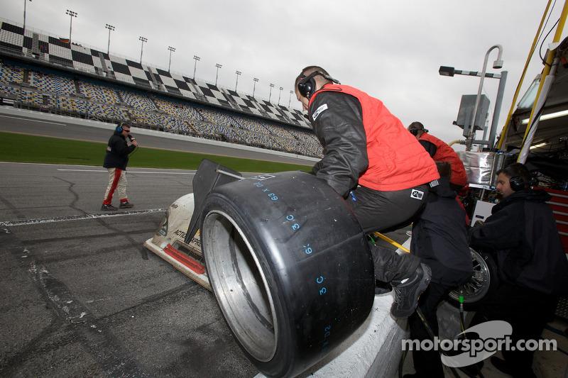 Dernier passage aux stands pour#9 Action Express Racing Porsche Riley: Joao Barbosa, Terry Borchell