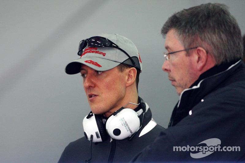 Michael Schumacher, Mercedes GP, Ross Brawn director de equipo, Mercedes GP