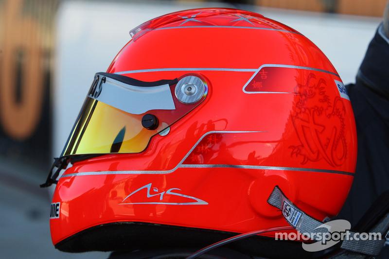 De helm van Michael Schumacher, Mercedes GP