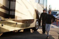 Michael Schumacher, Mercedes GP, leaves the motorhome in the paddock where he stayed overnight