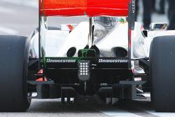 Lewis Hamilton, McLaren Mercedes, MP4-25, run areo paint, rear, detail