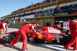 Fernando Alonso, Scuderia Ferrari, F10, tests a different helmet