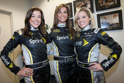Miss Sprint Cup press conference: Miss Sprint Cup for 2010 Monica Palumbo, Paige Duke and Amanda Wright