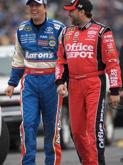 David Reutimann, Michael Waltrip Racing Toyota and Tony Stewart, Stewart-Haas Racing Chevrolet