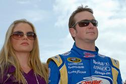 Kurt Busch, Penske Racing Dodge avec sa femme Eva
