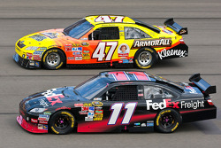 Denny Hamlin, Joe Gibbs Racing Toyota and Marcos Ambrose, JTG Daugherty Racing Toyota