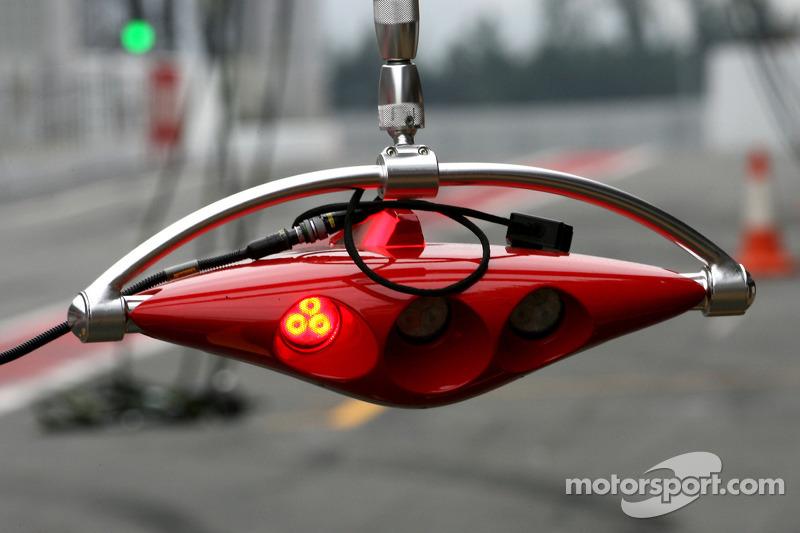 Scuderia Ferrari pitstop lichtsysteem