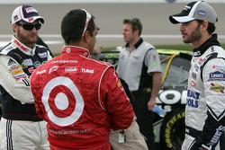 Dale Earnhardt Jr., Hendrick Motorsports Chevrolet, Juan Pablo Montoya, Earnhardt Ganassi Racing Chevrolet and Jimmie Johnson, Hendrick Motorsports Chevrolet