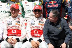 Jenson Button, McLaren Mercedes, Lewis Hamilton, McLaren Mercedes, Jean Todt, FIA president