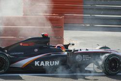 Karun Chandhok, Hispania Racing F1 Team crashes