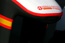 Hispania Racing F1 Team front wing detail