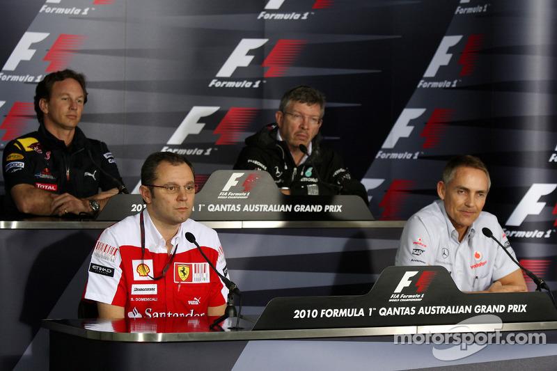 Christian Horner, Red Bull Racing, Sporting Director, Stefano Domenicali Ferrari General Director, R