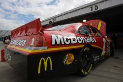 The No.1 McDonald's Chevrolet sits in the garage area