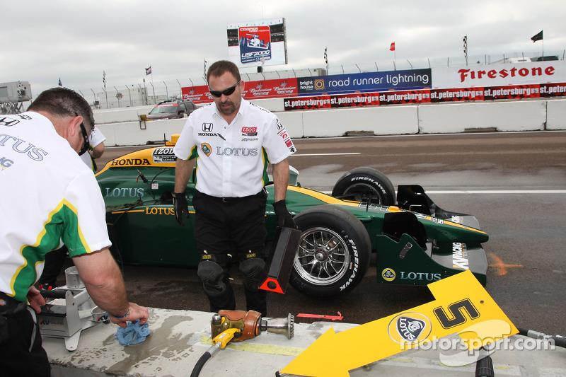 Les membres KV Racing Technology au travail