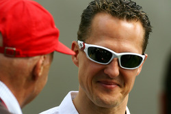 Niki Lauda and Michael Schumacher, Mercedes GP