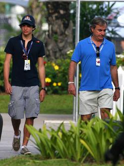 Carlos Sainz and his son Carlos Sainz Jr.