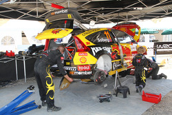 Petter Solberg Rallying service area