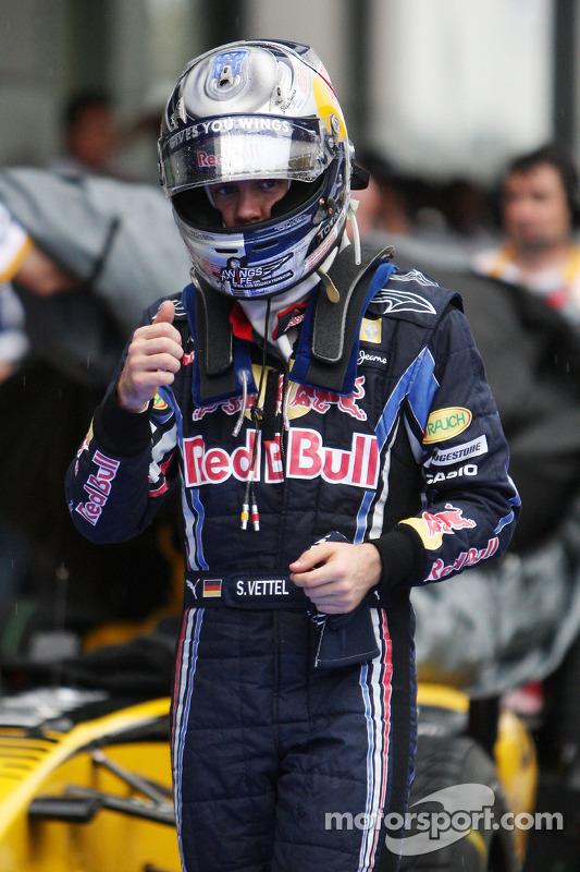 Derde plaats Sebastian Vettel, Red Bull Racing