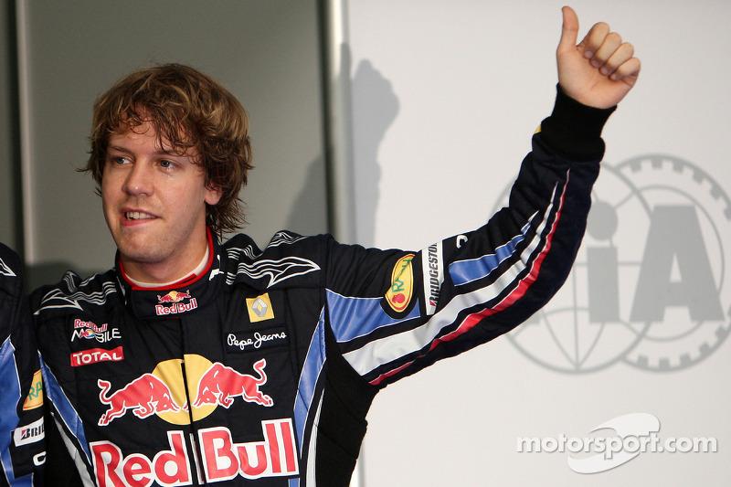 Troisième place pour Sebastian Vettel, Red Bull Racing