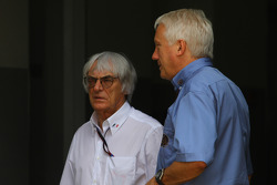 Bernie Ecclestone with Charlie Whiting, FIA safety delegate, Race director & offical starter