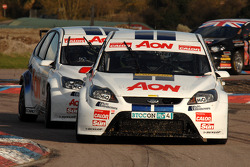 Tom Onslow-Cole Team AON Ford Focus leads team mate Tom Chilton