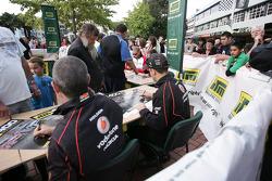 V8 Supercar drivers signing autographs
