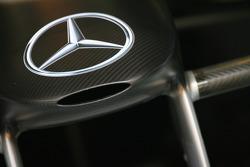 Mercedes logo and nose cone