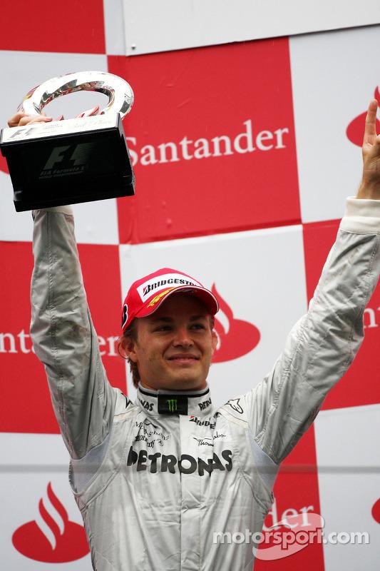 Podium: 3de Nico Rosberg, Mercedes GP