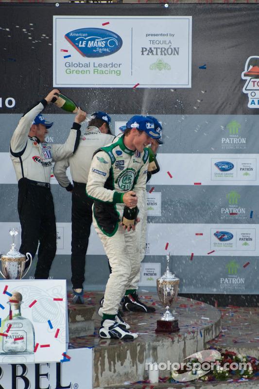LMPC podium: champagnefestiviteiten