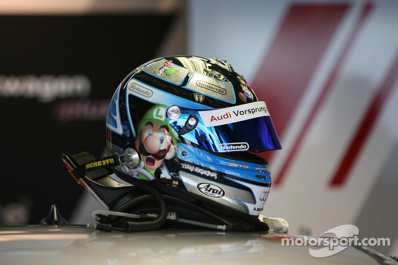 Casque de Timo Scheider, Audi Sport Team Abt Audi A4 DTM