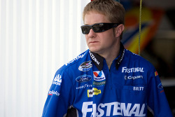 A crew member for the No. 60 Fastenal team
