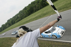 #01 Chip Ganassi Racing with Felix Sabates BMW Riley: Scott Pruett, Memo Rojas takes the checkered flag